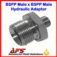 1/2 BSPP X 1/4 BSPP Male Unequal 60° Cone Straight Hydraulic Adaptor